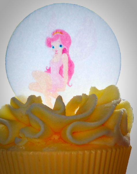 Edible cake topper - pink fairy